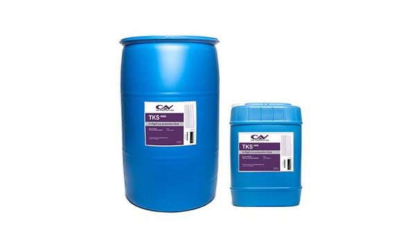 Two barrels of TKS fluid in different sizes